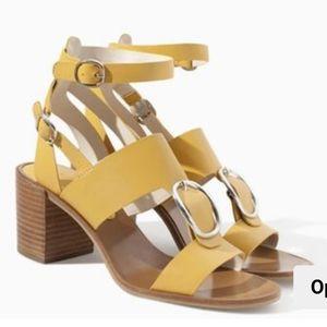 Zara Women's gladiator yellow sandals size 37